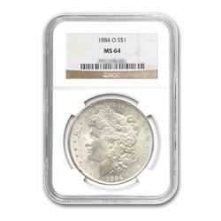 1884-O $1 Morgan Silver Dollar - NGC MS64
