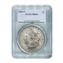 1885-O $1 Morgan Silver Dollar - PCGS MS64