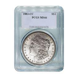 1883-CC $1 Morgan Silver Dollar - PCGS MS66
