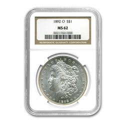 1892-O $1 Morgan Silver Dollar - NGC MS62