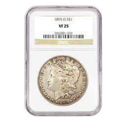 1895-O $1 Morgan Silver Dollar - NGC VF25
