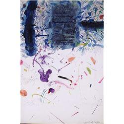 Josep Grau-Garriga, Happy Morning, Watercolor Collage Painting