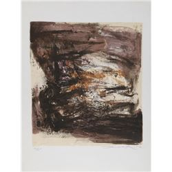 Zao Wou-Ki, Composition II, Lithograph