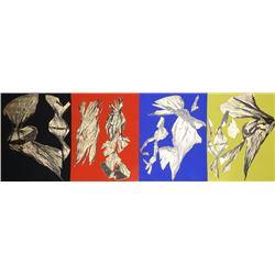 Lynda Benglis, Dual Nature (Quad), Four Lithographs