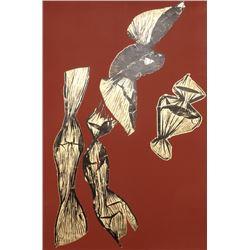 Lynda Benglis, Dual Nature Large (Brown), Lithograph