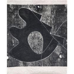 Mel Kendrick, untitled 1, Woodcut