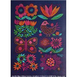 Charlotte Patera, Nut Tree - Stitching Exhibition, Poster
