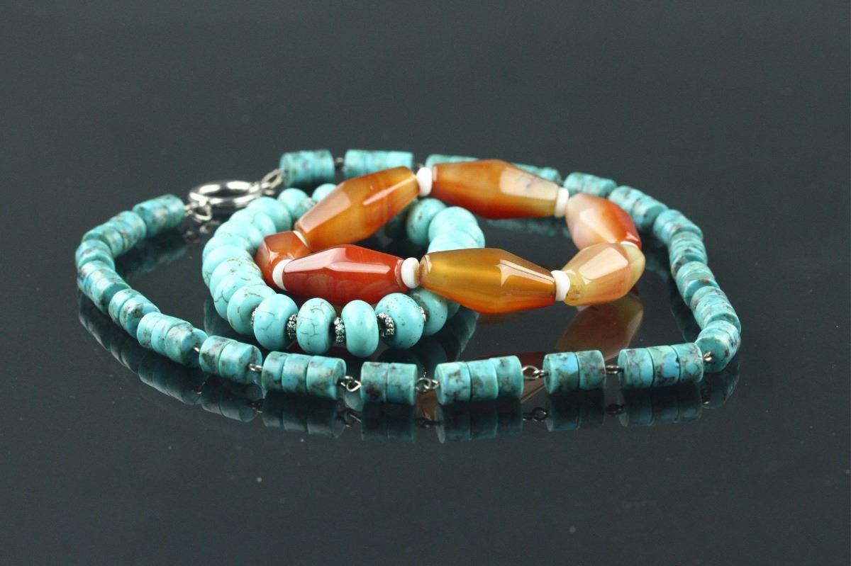 b047829be Image 1 : Chinese Agate & Hardstone Necklace & Bracelet ...