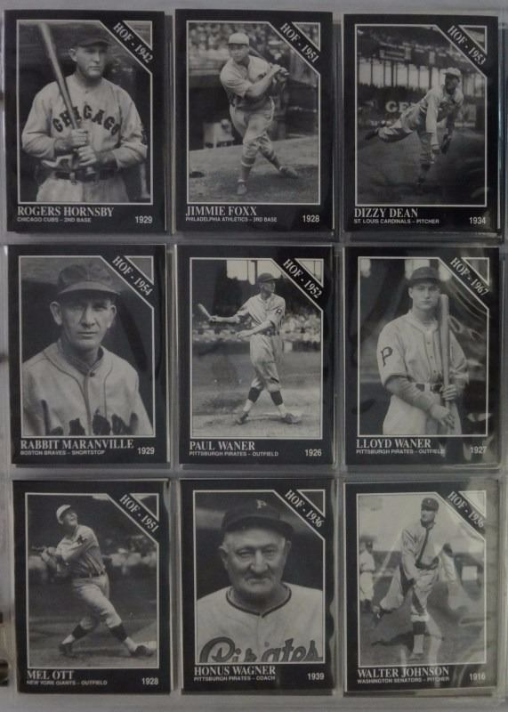 1991 Conlon Black White Card Collection All Old Time Favorites