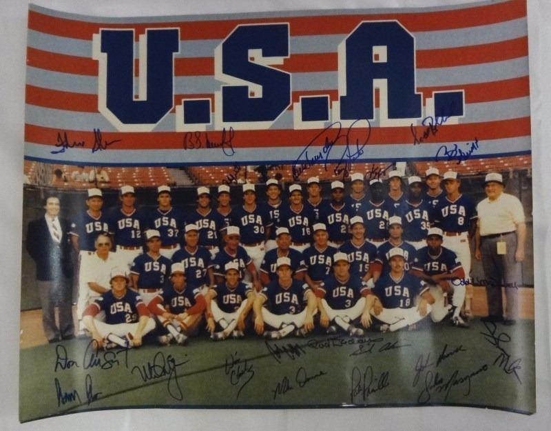 1984 Usa Baseball Team 16 X 20 Photo W22 Signatures Including Mark Mcgwire
