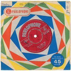 Beatles Signed 'Love Me Do' 45 RPM