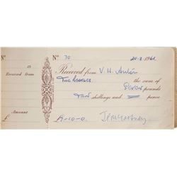 Beatles Pair of Signed Early Receipt Books