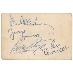 Beatles Signed Business Card