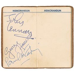 Beatles: Lennon, Harrison, and McCartney Signed Address Book