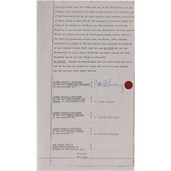 Beatles Signed 'Savile Row' Document