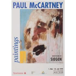 Paul McCartney Signed Promotional Poster