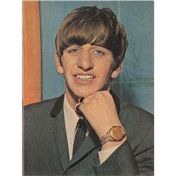 Ringo Starr Signed Oversized Magazine Photograph
