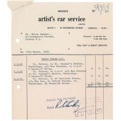 Ringo Starr Signed Receipt