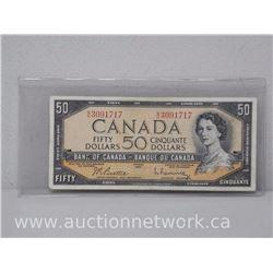 $50 Bank of Canada Note - 1954 - B/H 3091717 (Beattie/Rasminsky)
