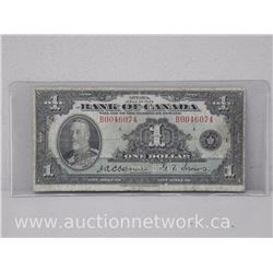 Bank of Canada $1 RARE Osbourne/Towers Note