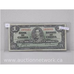 Bank of Canada 1935 $1 Note S/M 4058352 Coyne/Towers VG +