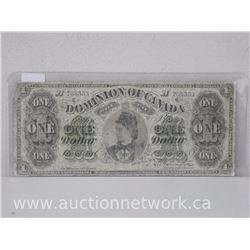 Dominion of Canada $1 Bank Note From 1878
