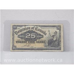 Dominion of Canada 1900 Twenty Five Cents Note VG