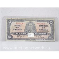 Bank of Canada $2 1937 Note (Coyne/Towers) D/R 1959102