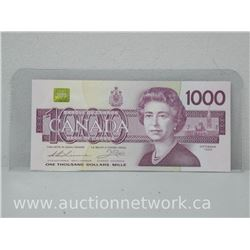 Bank of Canada $1000.00 One Thousand Dollars UNC Bank Note (1988)