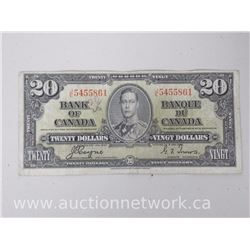 Bank of Canada $20.00 1937 Note Coyne/Towers