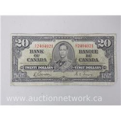 Bank of Canada $20.00 1937 Note Gordon/Towers
