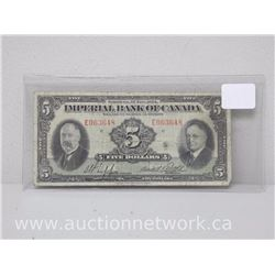 Imperial Bank of Canada 1934 $5 Note E063648