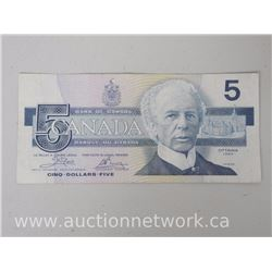 Bank of Canada 1986 *Replacement* $5 Note ENX2591842