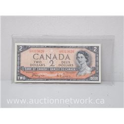 Bank of Canada DEVIL'S FACE $2 1954 Coyne/Towers C/B 0313626 VF