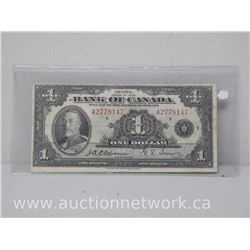Bank of Canada $1 Note A2778147 Osbourne/Towers *Rare Signatures* FINE