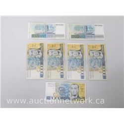 Lot of (7) Central Bank of Brazil Notes