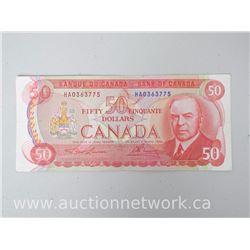 Bank of Canada 1975 $50 Note HA0363775 Lawson/Bowey