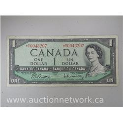 Bank of Canada $1 1954 Replacement Note *M/Y 0043297