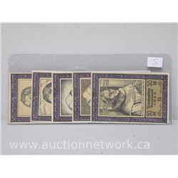 Lot of (5) Notgeld Paper Money (Lutherhaus)