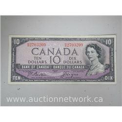 Bank of Canada DEVIL'S FACE 1954 $10 VF Note Beattie/Coyne HD 2703209