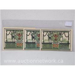 Lot of (3) Notgeld Paper Money