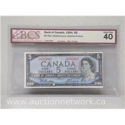 Bank of Canada 1954 $5 Beattie/Coyne Modified Portrait EXTRA FINE 40 (Bc-39ai)
