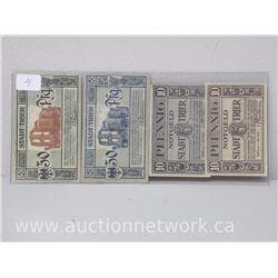 Lot of (4) Notgeld Paper Money