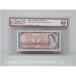 Bank of Canada 1954 $2.00 Bouey/Rasminsky Modified Portrait (Bc-38c)
