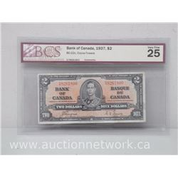 Bank of Canada 1937 $2.00 Note Coyne/Towers *BC-22c* VERY FINE 25 BCS