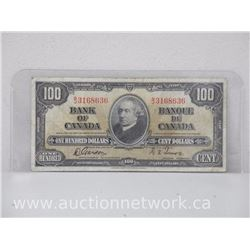 Bank of Canada $100.00 One Hundred Dollars Note B/J 3168636