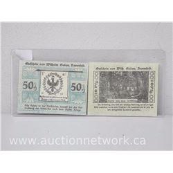 Lot of (2) Notgeld Paper Money *Dannefeld*