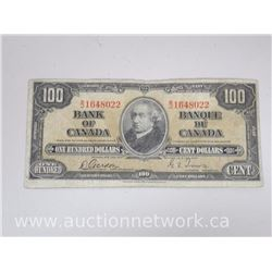 Bank of Canada $100.00 One Hundred Dollars Note B/J 1648022