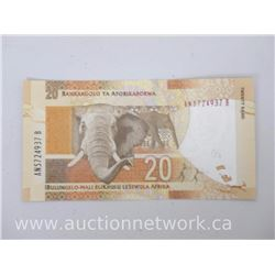 South African Reserve Bank (Nelson Mandela) 20 Rand Note