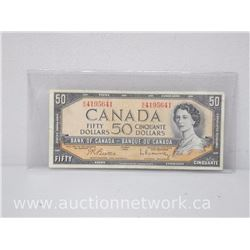Bank of Canada $50.00 Fifty Dollars Note 1954 Beattie/Rasminsky B/H